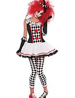 Costumes Déguisements burlesques / Uniformes / Zombie / Vampire Halloween / Noël / Carnaval Rouge / Blanc / Noir Vintage TérylèneRobe /
