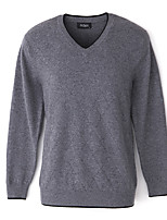 Men's Solid Casual Pullover,Wool Long Sleeve Black / Blue / Gray