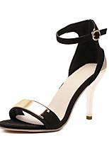 Women's Sandals Summer Sandals / Open Toe PU Casual Stiletto Heel Sequin Black Others