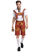 Cosplay Costumes Oktoberfest/Beer Movie Cosplay Brown / Green / Blue Solid Top / Pants / Hat Halloween / Christmas / New Year Male