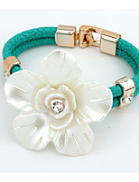 Hot Fashion Big Resin Flower Bracelet Elegant Rhinestone Snake Chain Bracelets For Women Gift