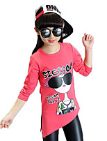 Girl's Casual/Daily Print Tee / Blouse,Cotton / Others Spring / Fall Red / White / Yellow / Gray