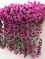 2 Bouquet Hanging Violet Flower Rattan Artificial Flower
