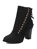 Women's Shoes Fall / Winter Fashion Boots / Round Toe Boots Party & Evening / Dress / Casual Chunky Heel Split Joint /