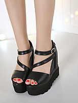 Women's Sandals Summer Sandals / Open Toe Leather Casual Wedge Heel Others Black Others