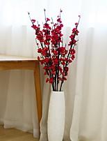 Hi-Q 1Pc Decorative Flowers Real Plum Wedding Home Table Decoration Artificial Flowers