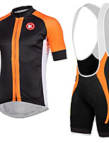 KEIYUEM®Summer Cycling Jersey Short Sleeves + BIB Shorts Ropa Ciclismo Cycling Clothing Suits #K139