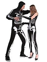 Costumes Déguisements de squelette / Zombie Halloween / Noël / Carnaval Blanc / Noir Vintage Térylène Collant/Combinaison / Costume Zentai