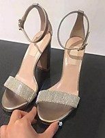 Women's Sandals Summer Sandals Leather Outdoor / Casual Chunky Heel Others Gold Others