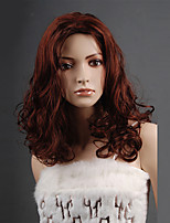Hot Selling Brown Color Middle European Wavy Women Synthetic Wigs