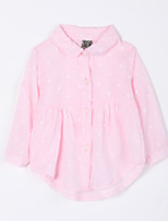 Baby Casual/Daily Blouse-Cotton-Fall-Pink