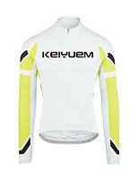 KEIYUEM® Maillot de Ciclismo Mujer / Hombres / Unisex Mangas largas BicicletaImpermeable / Transpirable / Secado rápido / Diseño