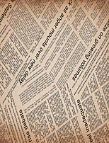 JAMMORY 3D Wallpaper For Home Contemporary Wall Covering Canvas Material English Newspaper3XL(14'7''*9'2'')
