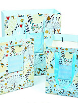 The New Fresh Floral Gift Bag Wide Square Bottom Paper Bag Gift Bag Hand Carry Bags A Packet Of Cake With Flowers Five