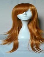 sin tapa larga peluca rubia de la princesa suelta pelo sintético ondulado peluca de la peluca del traje de la mujer