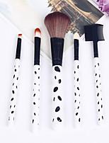 5 Brush Sets Kwast van geitenhaar Beugel Hout Gezicht Overige