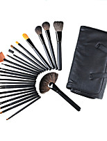 24 Makeup Brushes Set Synthetic Hair Professional / Full Coverage / Portable Wood Face / Eye / Lip