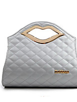 Women PU Casual Quilted Spiraea sexy lips Logo Shopping Shoulder Tote Evening Bright Bag