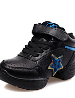 Non Customizable Kids' Dance Shoes Leather Leather Jazz / Sneakers Chunky Heel Beginner