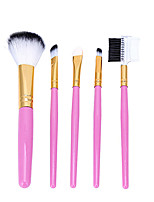 5 Makeup Brushes Set Nylon Professional / Full Coverage / Portable Wood / Plastic Face / Eye / Lip
