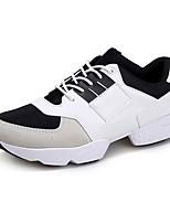 Черный / Белый-Мужской-На каждый день / Для занятий спортом-Тюль / Дерматин-На плоской подошве-Удобная обувь-Кеды