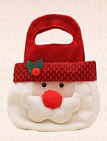 1pc cabeza linda de Santa Claus mano navidad partido dulces decoración bolsa de caramelos de regalo de vacaciones