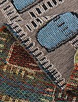 Jacquard Poly/Cotton Brown Apparel Fabric & Trims