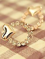 Серьга В форме сердца Бижутерия 1 пара Мода Повседневные Сплав Женский Золотой