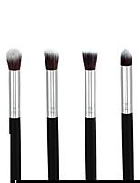 4 Makeup Brushes Set Synthetic Hair Portable Wood Face DANNI