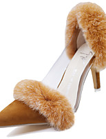Women's Heels Spring / Summer / Fall Heels / Pointed Toe Synthetic Dress Stiletto Heel Fur Black / Brown / Red Others