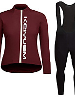 KEIYUEM®Spring/Summer/Autumn Long Sleeve Cycling Jersey+Long Bib Tights Ropa Ciclismo Cycling Clothing Suits #L84