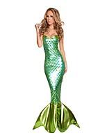 Costumes Mermaid Tail Halloween / Carnival / Oktoberfest Green / Dark Green Vintage Terylene Leotard/Onesie
