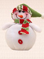 muñeco de nieve sombrero verde suministros árbol de navidad decoración de la cena en casa del partido colgante que cuelga 1pc
