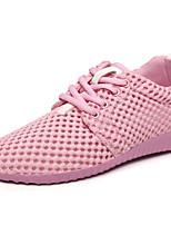 Черный / Розовый / Бежевый-Женский-На каждый день / Для занятий спортом-Тюль-На плоской подошве-На плокой подошве-Кеды