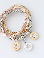 Wrap Bracelets 1set,Fashionable Circle Golden / Rose / Silver Alloy Jewelry Gifts