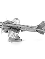 Puzzles Neuheit-Spielzeug Bausteine DIY Spielzeug Flugzeug 1 Metall Silber Neuheit-Spielzeug