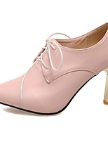 Women's Shoes PU Summer/Fall Heels/Pointed Toe Heels Office & Career/Casual Chunky Heel Blue/Pink/Purple/Almond