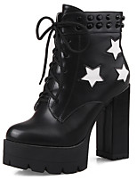 Women's Shoes Boots Spring/Fall/Winter Heels/Platform/Fashion Boots/Bootie/Round Toe Party & Evening/Casual Chunky