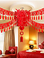 Eco-friendly Material Wedding Decorations-1Piece/Set Ornaments Wedding Vintage Theme Red Spring  Personalized