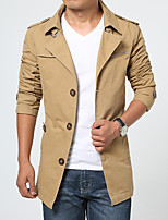 2016 new men's windbreaker and long coat in the spring loaded business casual men thin British jacket