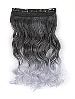 pince chaude dans les extensions de cheveux longs ondulés 5clips bouclés épingles à cheveux ombre pinces à cheveux synthétiques en