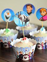 Partito da tavola Pirottini per cupcake Compleanno Rustico Tema Other Non personalizzato Cartancino Blu 12Pezzo/Set