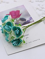 Hi-Q 1Pc Decorative Flower Hand Bouquet Plum Wedding Home Table Decoration Artificial Flowers