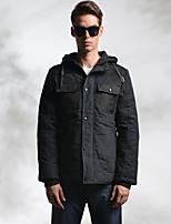 Lesmart Men's Stand Long Sleeve Jackets Brown / Dark Blue-MDME10240