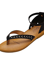 Women's Sandals Summer Sandals / Open Toe PU Casual Flat Heel Others Black / Green Others