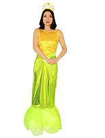 Costumes Mermaid Tail Halloween / Noël / Carnaval Vert clair / Jaune Vintage Térylène Robe
