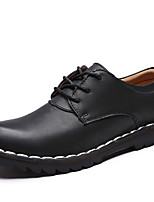 Men's Oxfords Spring / Summer / Fall / Winter Comfort Nappa Leather Office & Career / Casual Flat Heel Black / Brown