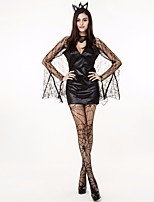 Cosplay Costumes Vampire Movie Cosplay Black Solid Dress / Gloves / Socks Halloween / Christmas / New Year Female Polyester