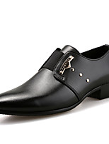 Men's Oxfords Spring Fall Formal Shoes Comfort Leather Wedding Office & Career Party & Evening Flat Heel Black Brown