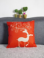Deer  Print Linen Pillow Cover
